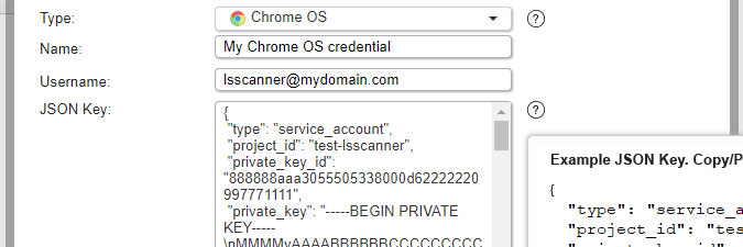 Chrome OS credential