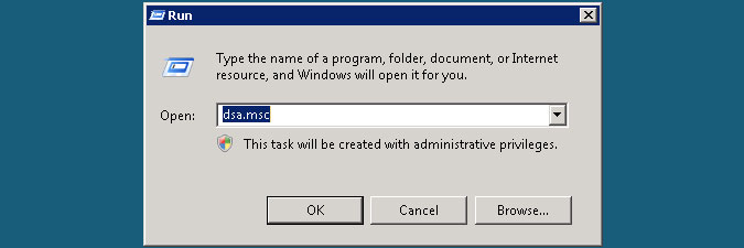 opening Active Directory Users and Computers