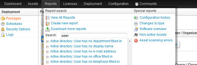 Active Directory user reports