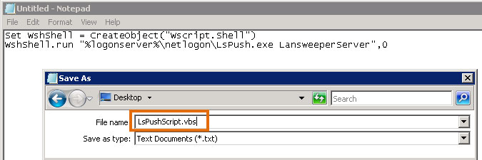 creating a VBScript to run LsPush